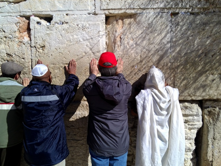 Praying at the Western wall, Jerusalem